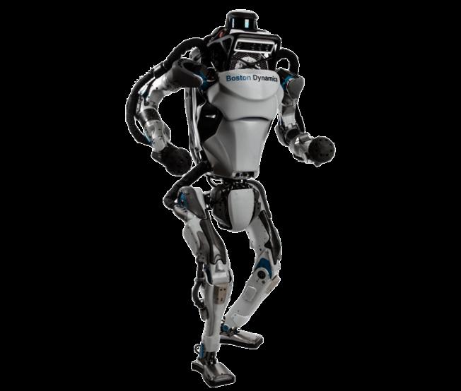 双足机器人Altas可以做出手倒立、翻滚、跳跃和旋转的动作。(取材自Boston Dynamics)