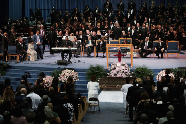 艾瑞莎富蘭克林喪禮。 (Getty Images)