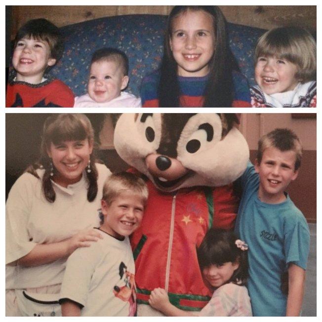 克里斯伊凡的童年舊照清楚顯示他幼時好友中沒有「黑寡婦」。圖/摘自twitter