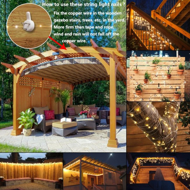 大的串燈可以掛在樹上、籬笆上、露台頂。(取自亞馬遜網站)