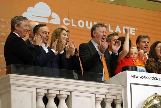 在NYSE IPO的企業可以主持敲鐘。(美聯社)