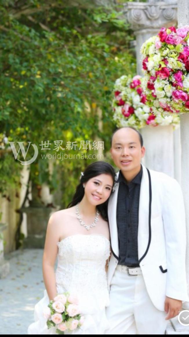 陳佩霞與劉文健的結婚照。(陳佩霞提供)