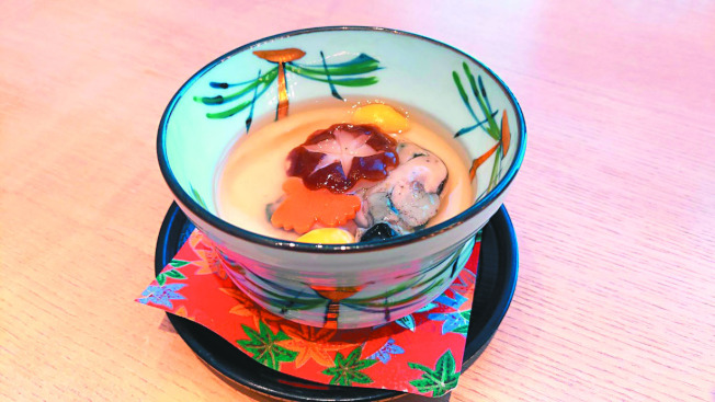牡蠣蒸蛋。(圖:加藤良一提供)