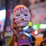 逾千人上街反禁蒙面法 防暴警帶走戴口罩市民