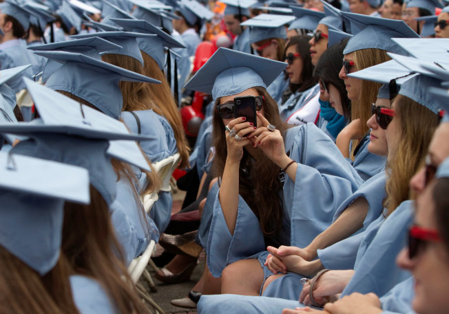 圖為哥倫比亞大學畢業典禮。路透