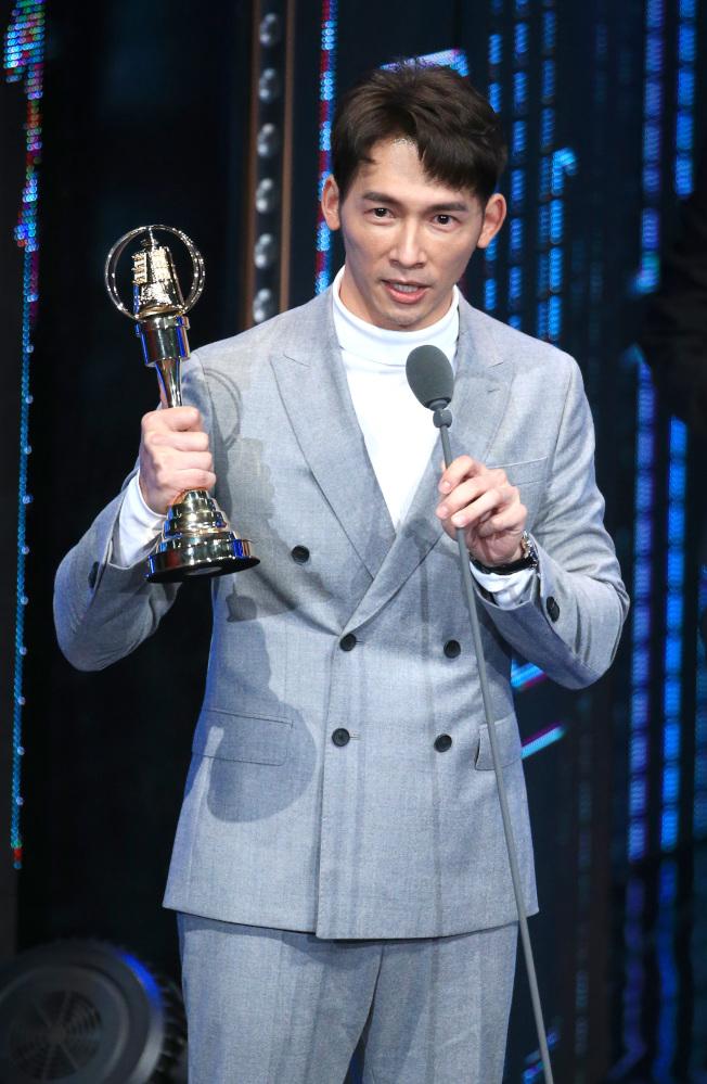溫昇豪獲得金鐘獎戲劇節目男配角獎。(記者林伯東/攝影)
