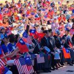 聖地牙哥雙十國慶升旗典禮 僑民熱情揮舞國旗