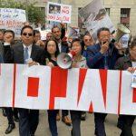 反對社區監獄建案 逾500人華埠遊行