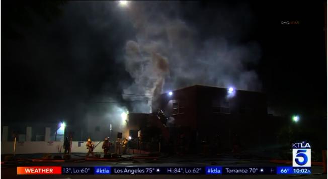 羅斯密市中餐廳「四川一號」遭人入室盜竊並且縱火。(圖:KTLA電視台)