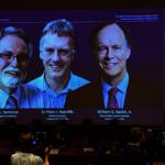 諾貝爾醫學獎3得主 接獲獎電話興奮無比
