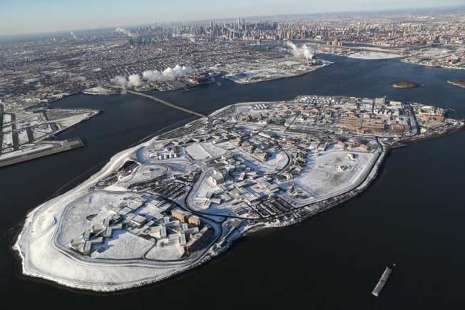 雷克島(Rikers Island)監獄。(Getty Images)