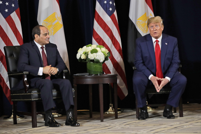 埃及總統西西(Abdel Fattah el-Sisi)是川普最喜歡的獨裁者。(美聯社)