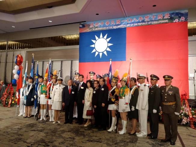 中華旗隊。(記者謝雨珊╱攝影)