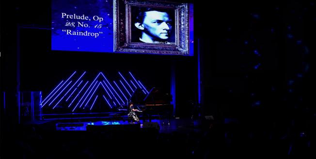 黃以欣慈善音樂會中,黃以欣演奏蕭邦名曲之一。(Patrick Wong攝影)