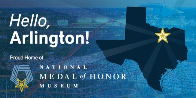 國家榮譽勳章博物館在網站上已向德州阿靈頓市招手。(國家榮譽勳章博物館官網)