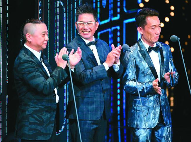邰智源(左起)、洪都拉斯、郭子乾擔任頒獎嘉賓。(本報資料照片)