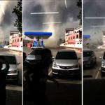 泰國中部出現罕見「陣風捲」 直撲目擊者