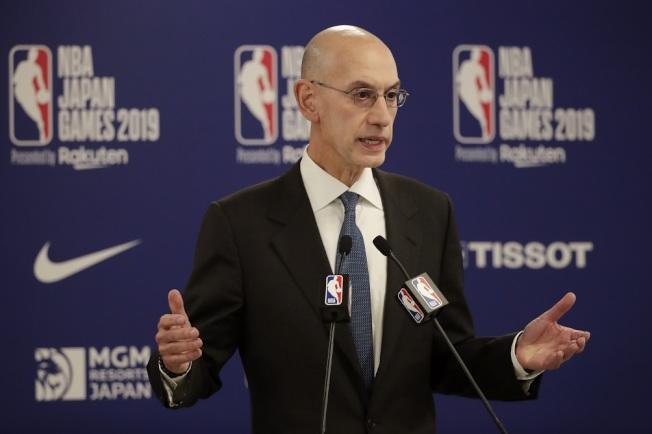 NBA總裁親上火線,表明不會為莫雷事件道歉。(美聯社)