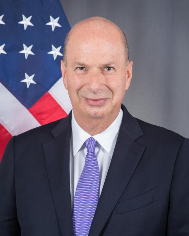 美國駐歐盟大使桑德蘭。(圖/美國國務院)