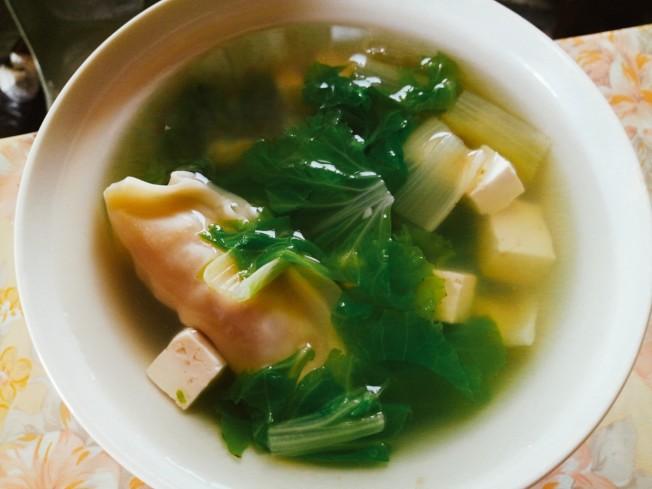 小白菜豆腐湯餃