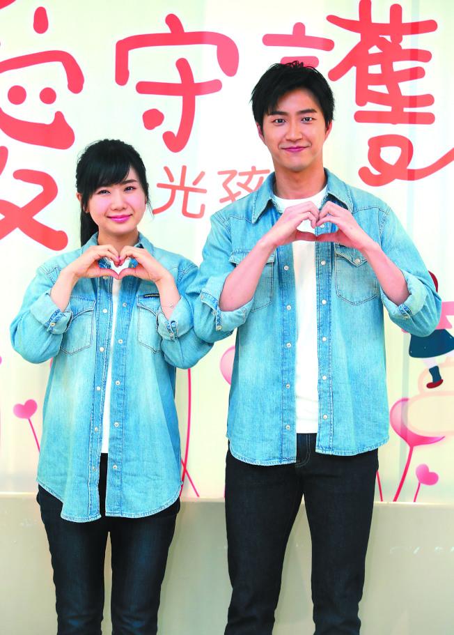 江宏傑(右)、福原愛是幸福小夫妻。(記者曾吉松/攝影 )