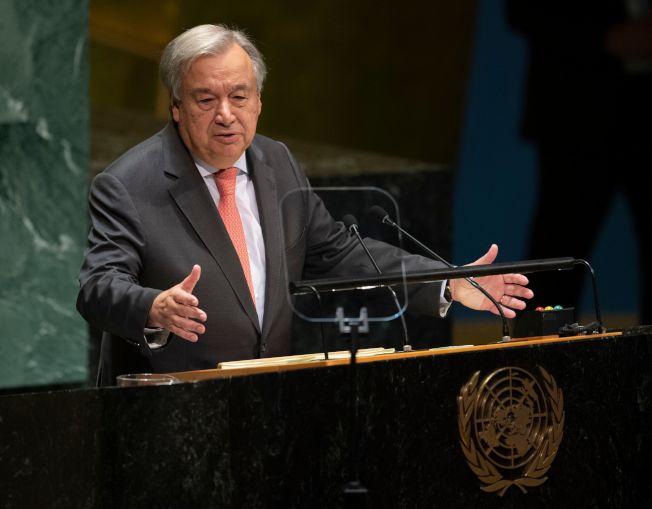 聯合國秘書長古特雷斯說,聯合國目前赤字2億3000萬美元,10月底可能耗盡現金。Getty Images