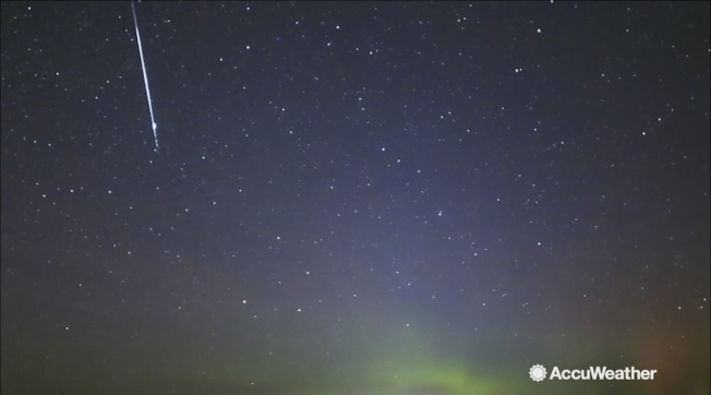 美國大部分地區9日晚有望看到流星雨。(AccuWeather提供)