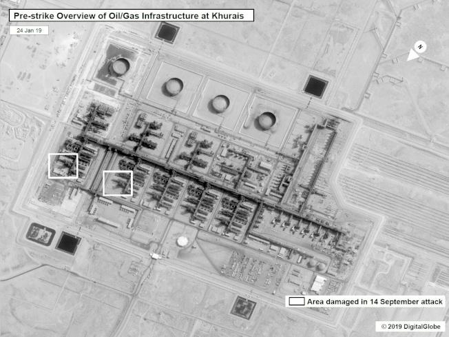 油田也是觀測焦點,衛星可用來監視火炬活動,作為生產變化的衡量標準。(Getty Images)
