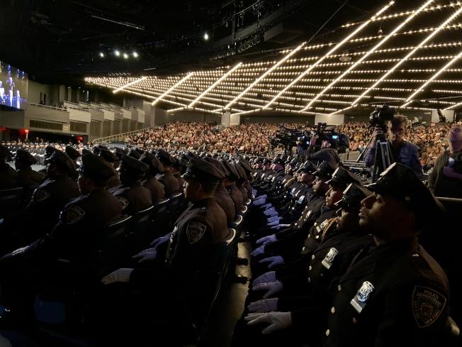 紐約市警察學院畢業典禮。(記者鄭怡嫣 / 攝影)