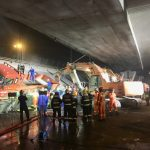 江蘇無錫高架橋坍塌壓扁3車母女雙亡