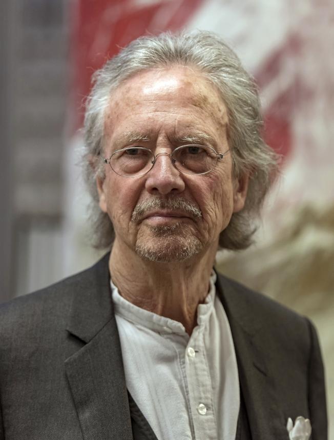 奧地利作家彼得.漢德克摘得2019年諾貝爾文學獎桂冠。(美聯社)