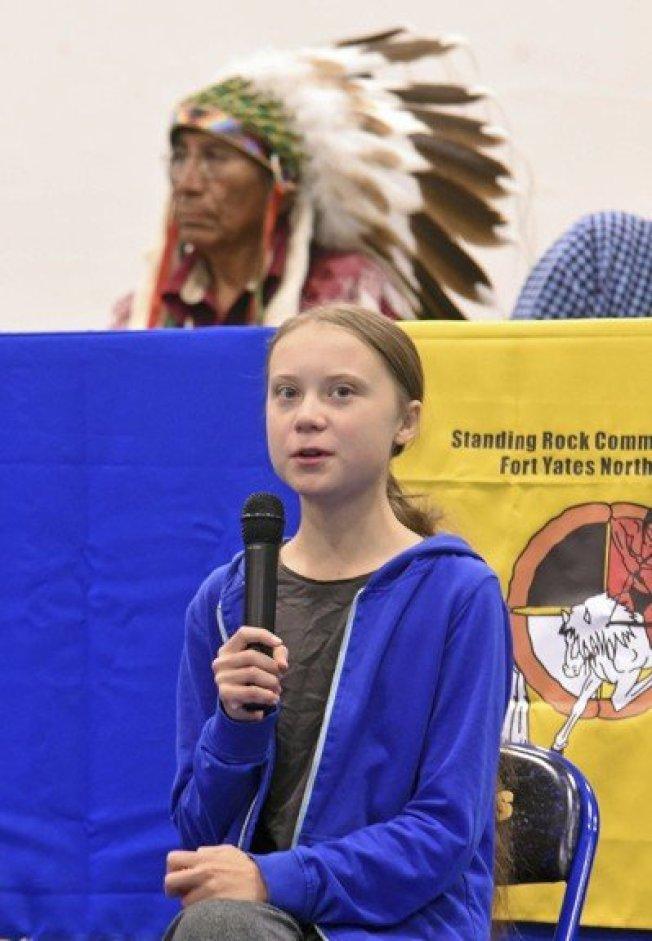 16歲瑞典環保少女桑柏格。(美聯社)
