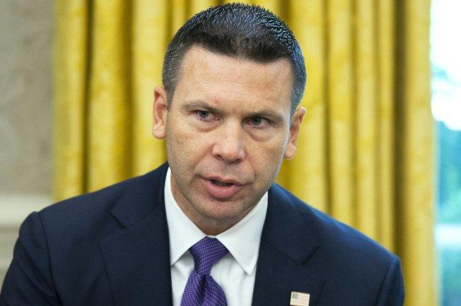 美國總統川普11日發推文說,代理國土安全部部長麥卡利南(Kevin McAleenan)將離職。(歐新社)
