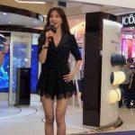 黑色貼身短裙套裝秀爆乳長腿  林志玲美照微博瘋傳