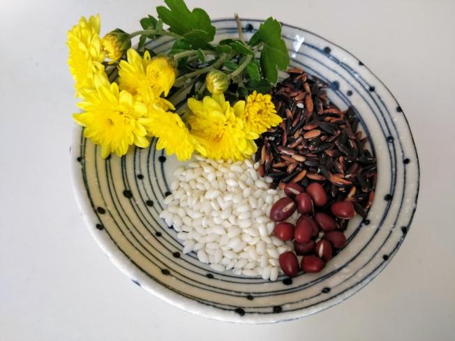 紫米粥材料