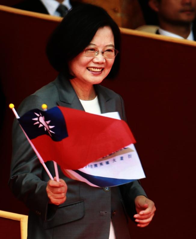 蔡英文在參加雙十國慶大會提到「中華民國台灣」六個字是整個社會最大的共識。(本報檔案照)