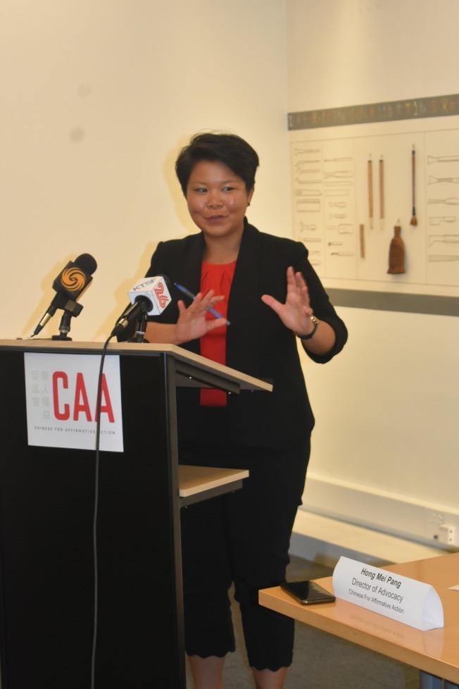 華人權益促進會倡議主任馮弘美認為聯邦法官的裁決對移民家庭是重大勝利。(本報檔案照,記者黃少華/攝影)