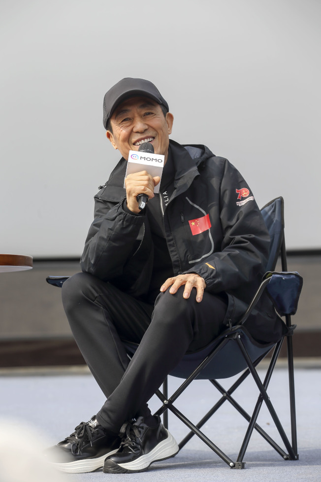 張藝謀亮相第三屆平遙國際電影展,受到眾多影迷追捧。 (中新社)