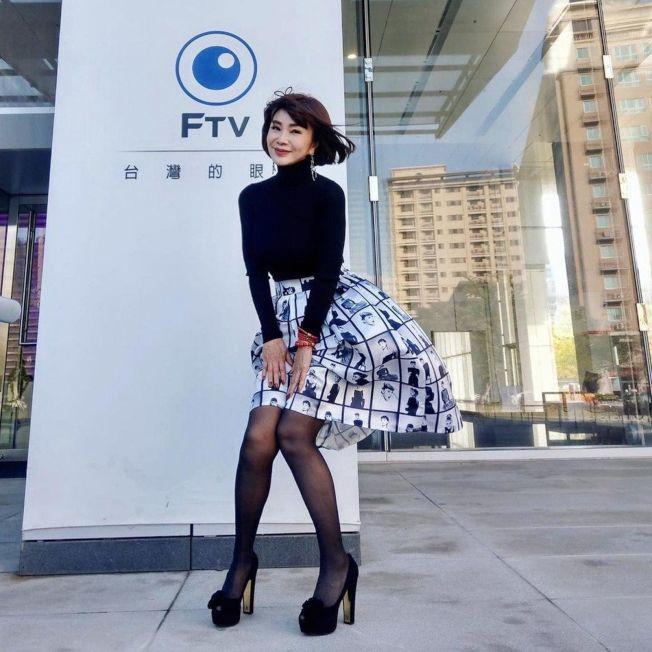 陳美鳳被網友誇讚是台版瑪莉蓮夢露。(取材自臉書)