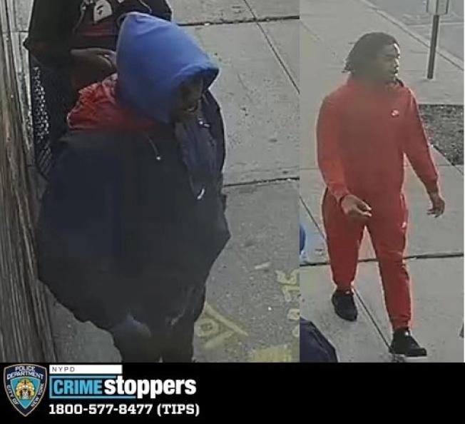 二非洲裔嫌犯作案時的體貌特徵。(市警提供)