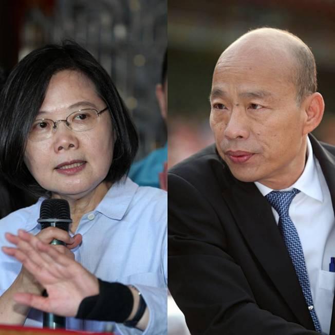 國民黨總統參選人韓國瑜希望能找蔡英文總統辯論兩岸政策。(本報資料照片)