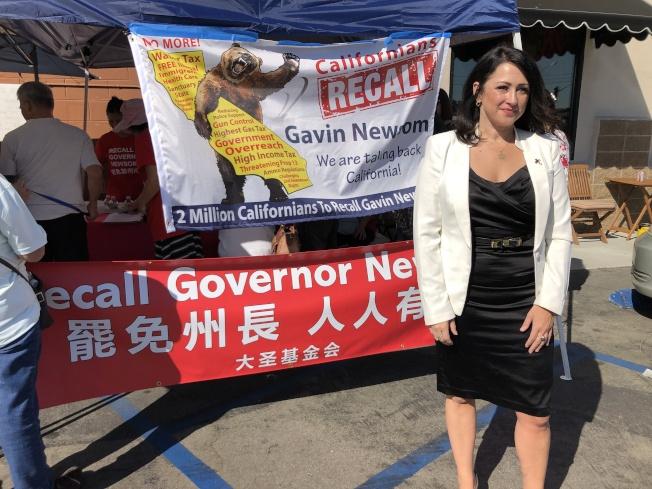 請願發起人是正在競選國會議員的Erin Cruz。(記者李雪/攝影)