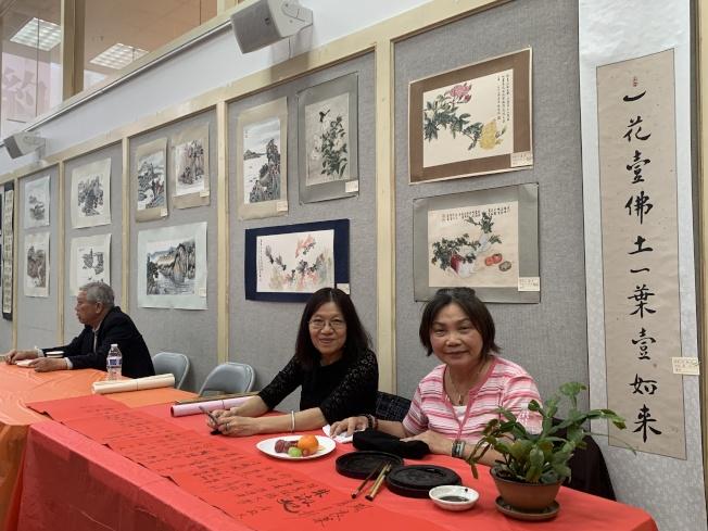 「墨池一得」聯合14位藝術家、展54幅國畫、書法作品。(本報記者/攝影)
