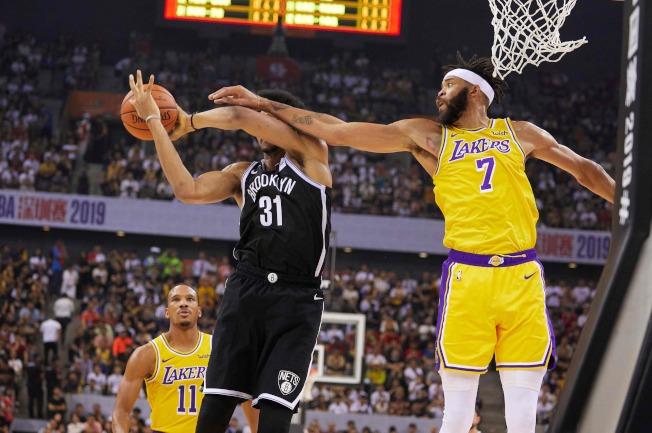 NBA洛杉磯湖人隊和新澤西網隊在中國的第二場較量,於深圳登場。(Getty Images)