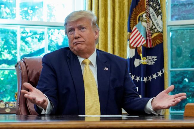 川普總統12日在推特吹噓與中國尚未簽訂的部分貿易協議為一大成就,直稱「農民要發財了」。(路透)