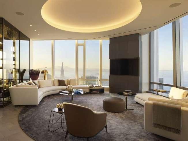 「佛利蒙街181號大廈」的頂層公寓,景觀極佳,可以看到整個金山灣,包括金門大橋和海灣大橋。(圖:房地產公司提供)
