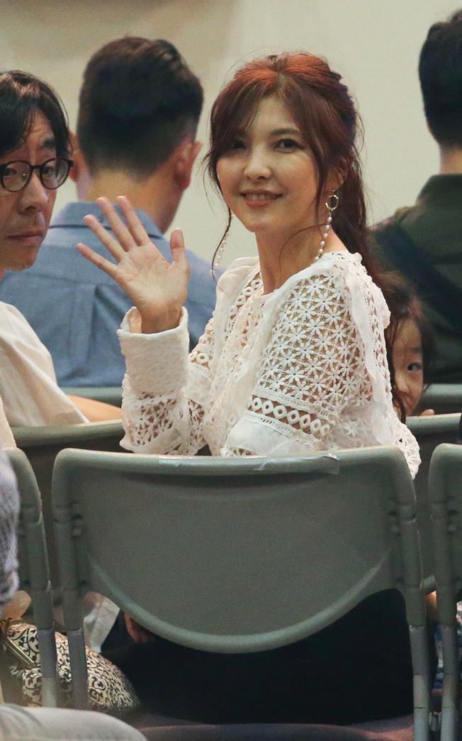 李玖哲12日在台北小巨蛋舉辦演唱會,妻子相馬茜(圖)也出席支持。(記者葉信菉/攝影)