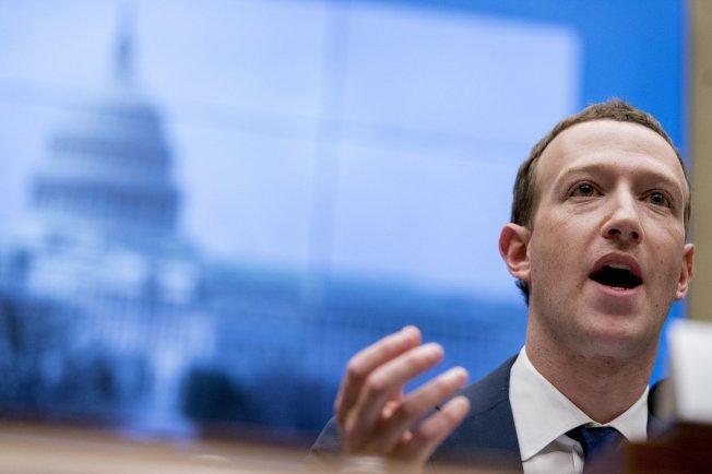 臉書創辦人兼執行長查克柏格。美聯社