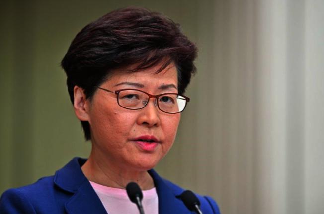 香港行政長官林鄭月娥辦公室昨天發文批駁美國參議員克魯茲,不應不負責任地肆意批評香港。(中央社資料照片)