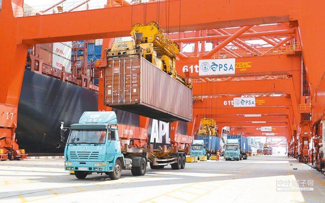 前三季中美貿易額下跌一成。(新華網)